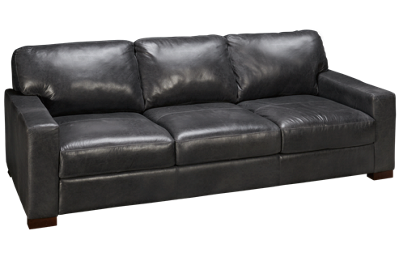 Soft Line Pista Grey Leather Sofa
