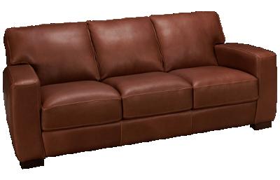 Soft Line Panama Leather Sofa