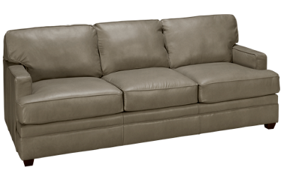 Klaussner Home Furnishings Custom Leather Sofa