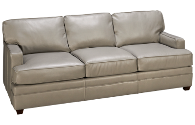 Klaussner Home Furnishings Living Your Way Leather Sofa