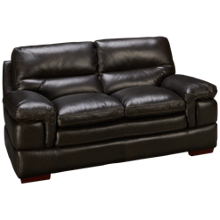 Futura Carter Leather Loveseat