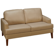 Futura Bermuda Leather Loveseat