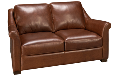 Soft Line Everest Leather Loveseat