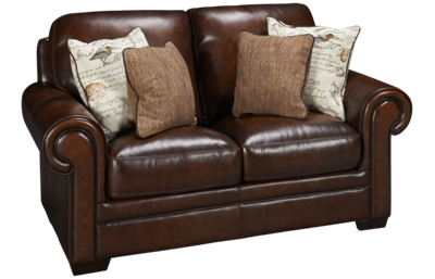 Simon Li Hillsboro Leather Loveseat