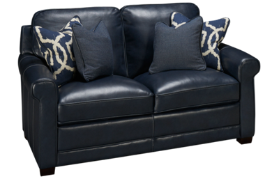 Simon Li Stampede Leather Loveseat