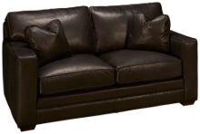 Klaussner Home Furnishings Homestead Leather Loveseat