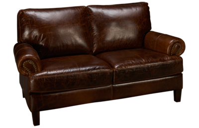 Soft Line Memphis Leather Loveseat