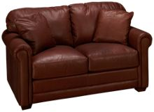 Klaussner Home Furnishings Cassidy Leather Loveseat