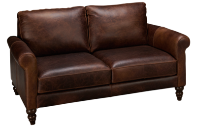 Soft Line Waco Leather Loveseat