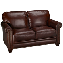 Futura Cordovan Leather Loveseat