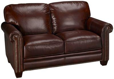 Genial Futura Cordovan Leather Loveseat