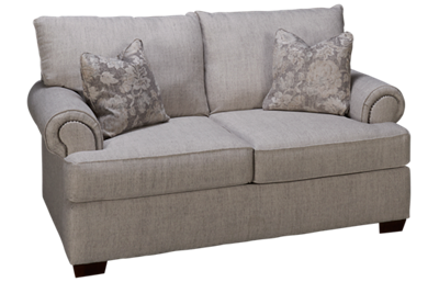Klaussner Home Furnishings Ginger Loveseat with Nailhead
