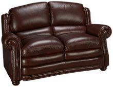Futura Davenport Leather Loveseat