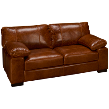 Soft Line Dallas Leather Loveseat