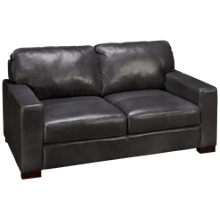 Soft Line Pista Grey Leather Loveseat