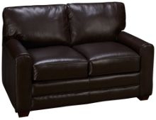 Klaussner Home Furnishings Selection Leather Loveseat