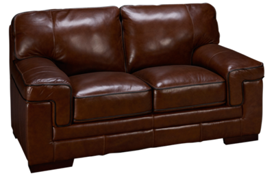 Simon Li Bramble Leather Loveseat