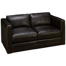 Soft Line Godiva Leather Loveseat