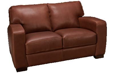 Soft Line Panama Leather Loveseat