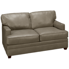 Klaussner Home Furnishings Custom Leather Loveseat