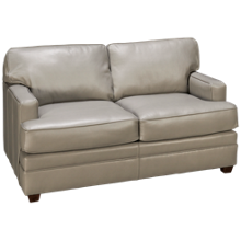 Klaussner Home Furnishings Living Your Way Leather Loveseat