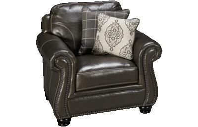 Simon Li Charleston Leather Chair with Nailhead