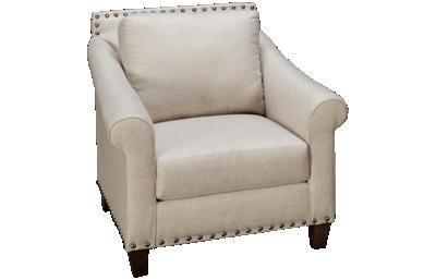 Klaussner Home Furnishings Rowlin Chair with Nailhead