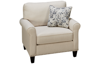 Fusion Furniture Morgan Chair with Nailhead