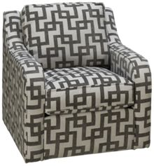 Capris Scroll Arm Swivel Chair