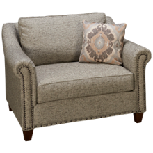 Klaussner Home Furnishings Langley Chair And 1/2