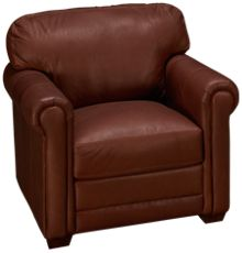 Klaussner Home Furnishings Cassidy Leather Chair