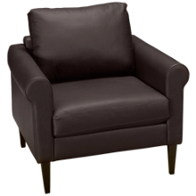 American Leather Roll Arm Leather Chair