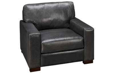 Soft Line Pista Grey Leather Chair