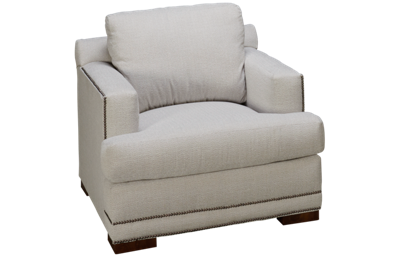 Klaussner Home Furnishings Laine Chair with Nailhead