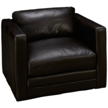 Soft Line Godiva Leather Chair