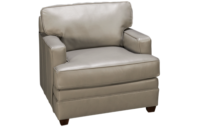 Klaussner Home Furnishings Living Your Way Leather Chair
