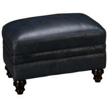Simon Li Kennedy Leather Ottoman
