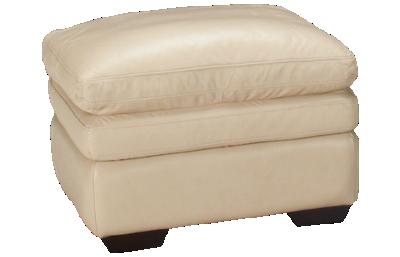 Futura Acacai Taupe Leather Ottoman