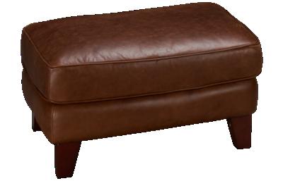 Futura Turner Leather Ottoman
