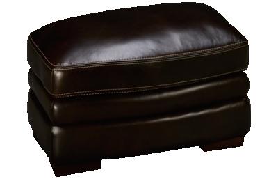 Futura Derrick Leather Ottoman