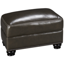 Simon Li Charleston Leather Ottoman