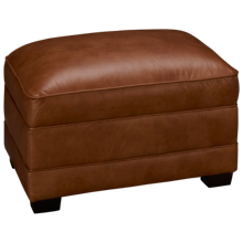 Simon Li Muttak Leather Ottoman