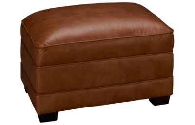Simon Li Muttak Leather Ottoman