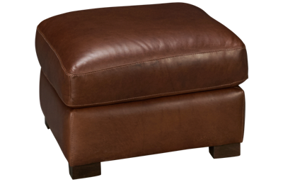 Soft Line Everest Leather Ottoman