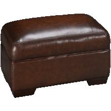 Simon Li Hillsboro Leather Ottoman