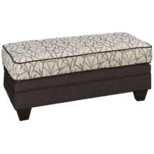 Peak Living Flannel Birch Ottoman
