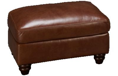 Simon Li Belmont Leather Ottoman