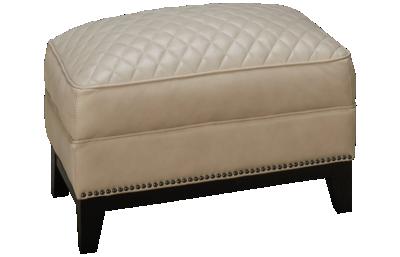 Simon Li Cesena Leather Ottoman