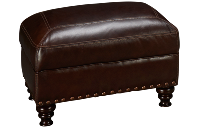 Simon Li Solena Leather Ottoman