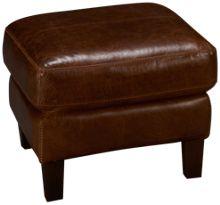 Soft Line Memphis Leather Ottoman